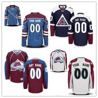 926e9a5c0 Ice Hockey Unisex Full Stitched Custom Colorado Avalanche mens womens youth  navy Blue Third Customized home