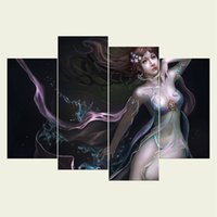 Wholesale sexy oil painting canvas - (No frame) Sexy woman two series HD Canvas print 4 pcs Wall Art Oil Painting Textured Abstract Pictures Decor Living Room Decoration