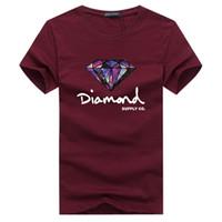 Wholesale Wholesale Spandex Cotton T Shirts - Wholesale-cotton 3DT-shirts men 2016 summer new arrvial funny man's print diamond T-shirt extended plus size 4XL 5XL white black red