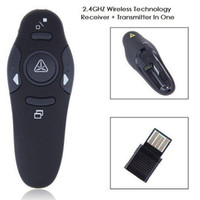 Wholesale Cheap Mini Wireless Mouse - 10pcs lot Cheap Plug Play RF 2.4GHz Wireless USB PowerPoint PPT Presentation Presenter Mouse Remote Control Laser Pointer Pen Free Shipping