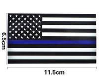 наклейки для автомобилей оптовых-Тонкая синяя линия США флаг наклейка наклейки для грузовых автомобилей - 2.5*4.5 дюймов американский флаг США наклейка для окна автомобиля