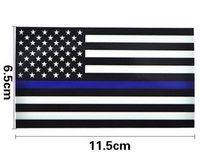 Wholesale car flag usa - Thin Blue Line US Flag Decal Stickers for Cars & Trucks - 2.5*4.5inch American USA Flag Sticker For Car Window