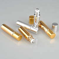 Öle Verwendet Kaufen -2017 Neu Nachfüllbares Gold Silber 5ml MINI ROLL AUF Aluminium Glas FLASCHEN ESSENTIAL OIL Metall Roller Ball Duft PERFUME Trave Sample Use
