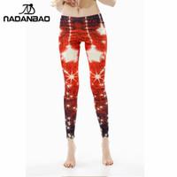 Wholesale Girl S Leggins - Wholesale-New Arrival Christmas Offer Printed Women Girls leggings Red star leggins for woman KDK1411