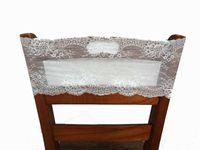Wholesale Sash Lace Chair Wholesale - 18*80cm Elastic Jacquard White Floral Lace Chair Sashes Back Covers Wedding Party Event Decoration Pastoral New Classic Home Garden Decor