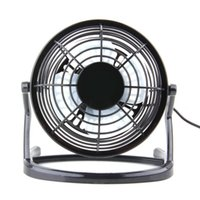 Wholesale Laptops Super Cooling - 1pcs Cooling Portable Desk Mini Fan Super Mute PC USB Coolerfor Notebook Laptop Computer With key switch Wholesale