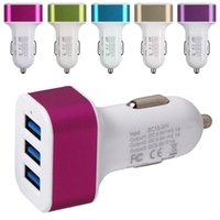3 Port Car Charger 3-Port Universal Rapid Portable 4.1A USB Auto Ladegerät Adapter Zigarette Ladegerät für Apple Iphone SAMSUNG android TYPE C