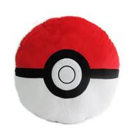 Wholesale Pillow Balls - New 2016 Pokemo Pocket Monsters Toy Quick Ball Pokeball Plush Pillow Soft Pokeball Plush Toy 35x35cm 013
