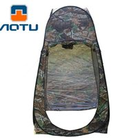 Venda por atacado - Free Shipping Shower Tent Camouflage Beach Fishing Outdoor Camping Toilet Tent, Changing Room Tent Shower With Carrying Bag