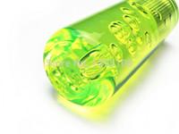 Wholesale Dildo Shift Knobs - Interior Parts Gear Shift Knob Car-styling 10cm Light fluorescence Green Bubble Dildo Shift Gear Knob With Light UNIVERSAL JDM STYLE