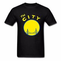 baumwollstadthemd großhandel-Golden State San Francisco Die Stadt Kalifornien Kleidung Neue Design Männer 100% Baumwolle T-shirts Kurzarm Mann T-shirts