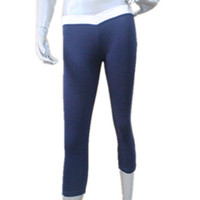 Wholesale White Cotton Lycra Leggings - Navy Blue and White Cotton Lycra Cross Band V Front 3 4 Leggings for Ladies and Girls Full Sizes 16 Colors Available