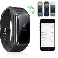 Wholesale Wrist Bluetooth Headset - Talking band B7 Smart Wristband also Bluetooth Headset with Heart Rate Monitor Passmeter Sleeping tracker without APP