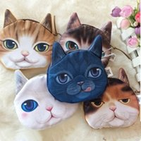Wholesale Small Fabric Coin Purse - New Bag Women Cloth Cute Creative dollar price wallets Harajuku Adorable Kitty Cat Cloth Small Purse Female Coin Wallet 11.5*10cm