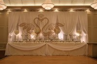 stage background design - All White Color Factory Design Stage Background Backdrop Curtain For Wedding Decoration