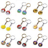 Wholesale Cool Car Electronics - 100pcs 18 Styles Alloy Cartoon Key chain Cool Creative keychains RPG mobile game theme Key Chain Bag Pendant Car Keychain