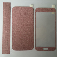 Wholesale Iphon Screen - iphon 7 Full Body Glitter bling Screen Protector Sparkle shimmer Whole Film Skin Shinny Sticker front for iPhone se 4 4S 5 5S 6 6s 7 plus