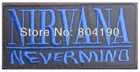 Wholesale Heavy Sewing - NIRVANA Nevermind Blue Grunge Music Band LOGO Embroidered NEW IRON ON and SEW ON Patch Heavy Metal Custom design patch available