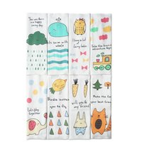 2Pcs / set Muslin Baby Bibs Четыре слоя 100% расчесанная хлопковая марля Bibs Burp Cloths Cartoon Animal Printed Baby Feeding Towel