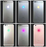 Wholesale Glowing Iphone Cable - Night Glowing Lighting LED Back Logo Replacement Flex Cable for iPhone 7 Plus 6 6S Plus