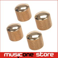 Wholesale Gold Metal Guitar - 4PCS Gold Metal Guitar Knob Guitar Knob Push For Fender Tele Guitar MU0746