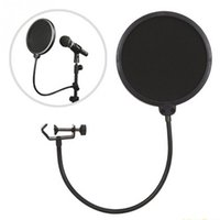 Wholesale Dual Casting - Wholesale Flexible Gooseneck Microphone Pop Filter Singing Windscreen Shield Pod Cast Dual Double Layer Mask Anti Mic Studio Pop Filter