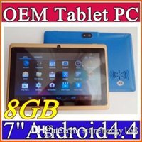 "Wholesale Product Tablet - 2015 product 7 inch Android4.4 Google better Battery Tablet PC WiFi Quad Core 1.5GHz 512MB 8GB Q88 Allwinner A33 7"" Dual Camera E-7PB"