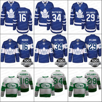 Wholesale Army Breathable - Toronto Maple Leafs Jerseys 34 Auston Matthews 16 Mitch Marner 29 Nylander 100th 2017 Centennial Classic Hockey Jerseys White Blue