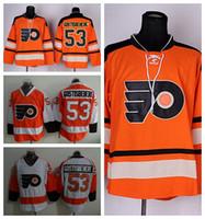Wholesale Jersey Winter Road - Philadelphia Flyers Hockey 53 Shayne Gostisbehere Jerseys Winter Classic Fashion Man All Stitched Team Color Orange Road White