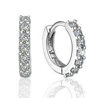 bons brincos para mulheres venda por atacado-925 sterling silver brincos de argola pequena com zircão moda jóias presente de noivado para as mulheres frete grátis boa qualidade
