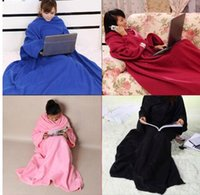 Wholesale Lazy Blanket - Soft Home Winter Warm Fleece Snuggie Blanket Robe Cloak With Sleeves Cozy Sleeves Wearable Sleeve Blanket Lazy Blanket KKA3194