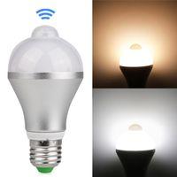 bombillas de luz infrarroja al por mayor-Bombilla LED de movimiento activado E27 B22 5W 7W 9W Diseño de aluminio Infrarrojo inteligente cuerpo humano lámpara de inducción para escaleras de garaje Luz nocturna