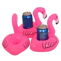 Wholesale ini Flamingo Floating Inflatable Drink Can Cell Phone Holder Stand Pool Toys Event Party Supplies