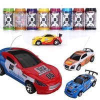 Wholesale Mini Battery Rc Car - 2016 Updated 4CH RC Car New Coke Can Mini Speed RC Radio Remote Control Micro Racing Cars Battery Charging Toy Gifts Promotion
