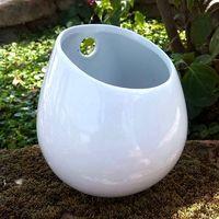 Wholesale 16 Vases - Bigger 16 CM Height x 13 CM Width Super White Ceramic Pot, Indoor Wall Mounted Ceramic Planter Vase, Wall Plant Holder