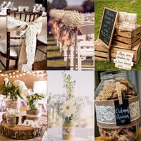 2M Natura Jute Burlap Fita Hessiana com Rendas de Renda Tape Roll Vintage Rustic Wedding Decoration Mariage Wedding Supplies