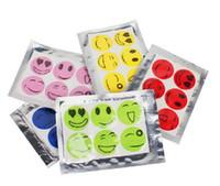 ingrosso autoadesivo anti zanzare-6000 PCS (1 set = 6 pezzi) Anti Mosquito Sticker Patch Citronella Zanzara Killer Viso sorridente Repellente per zanzare