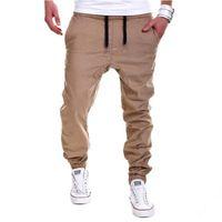 Wholesale Mens Casual Cargo Pants Trousers - Wholesale-pants cargo Mens Joggers Male Trousers Men Pants Mallas Hombre Elastic Cross Pants Sweatpants Jogger Pantalones