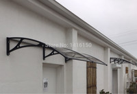 Wholesale DS80240 A x240cm New Arrival Polycarbonate Canopy Simple Design Home Use Black White Grey Aluminum Support Polycarbonate Canopy