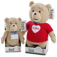 Wholesale Ted Bear Talk - Free shipping,Can Talking,Movie Teddy Bear Ted Plush Toys In diffent clothes Soft Stuffed Animals Ted Bear Plush Dolls