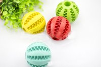 Wholesale large rubber balls - Pet Dogs Chew Toys High Quality Rubber Round Ball for Teddy Large Dogs Puppies Bite Molar Clean Teeth