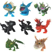 Wholesale toy train sets wholesale - Full Set 8 Pcs Juguetes How To Train Your Dragon Night Fury Toothless figurines kids toys toothless dragon toys