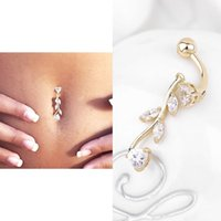 Wholesale Sexy Belly Bars - 1pcs 2016 fashion Sexy Body Jewelry Navel Dangle Belly Barbell Button Bar Ring Body piercing Art Belly Button Ring Piercing