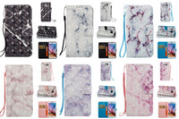 Wholesale Transparent Flip Covers For S4 - 3D Glitter Marble Phone Cases Flip Wallet Leather Case Cover For Samsung Galaxy S3 S4 S5 S6 EDGE S7 S7EDGE S8 S8 PLUS
