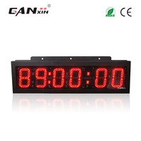 Wholesale Race Timing Clock - [GANXIN]High Brightness 6 inch 6 Digits Large Double Side LED Digital Marathon Race Clock Timer with Rohs Can Preset Time