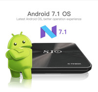 Wholesale Bt Flash - R-Box S10 Android 7.1 TV Boxes KD 17.4 DDR4 2G 3G RAM 16GB 32G EMMC Flash Amlogic S912 Octa Core BT 2.4G 5G AC Dual WiFi 1000M