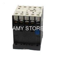 Wholesale 35mm Din Rail - Wholesale-CJX2-K0910 220V Coil 9A 35mm DIN Rail 3 Phase 3P 1NO AC Contactor Ui 690V