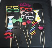 22pcs1set abschluss geburtstagsparty Foto Requisiten Schnurrbart gesichtsmaske Hut Papier Bart Hochzeit Party Supplies Junggesellenabschied Photo Booth