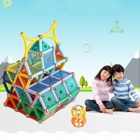 Wholesale Childrens Building Blocks - 550 Pcs Set Magformers Toy 3D Magnetic Block Building Toy Creativity Educational Childrens Christmas Gift With Box Magic Toys