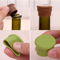 Wholesale Rubber Stopper Bottles - Fashion Hot Silicone Wine Bottle Stoppers Kitchen Bar Tools